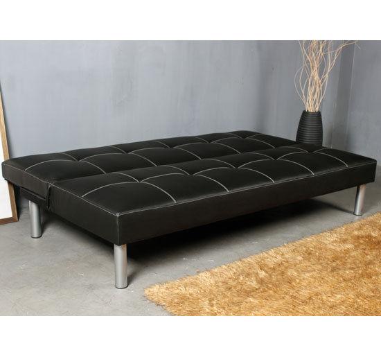 Sof cama plegable 180x90x78cm chocolate o negro tapizado for Sofas cama por 100 euros