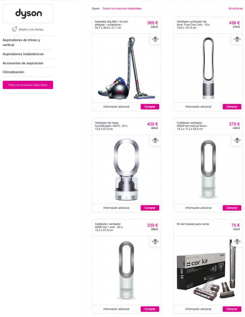 30 de descuento en productos dyson chollos descuentos y grandes ofertas en la red. Black Bedroom Furniture Sets. Home Design Ideas