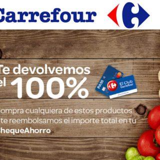 Hoy en Carrefour te devuelven el 100% de tu compra en cheque ahorro en 299 artículos.