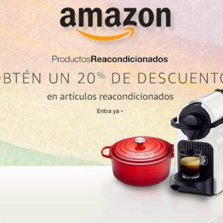¡Consigue un 20% de descuento con una compra en más 100.000 productos reacondicionados de Amazon!