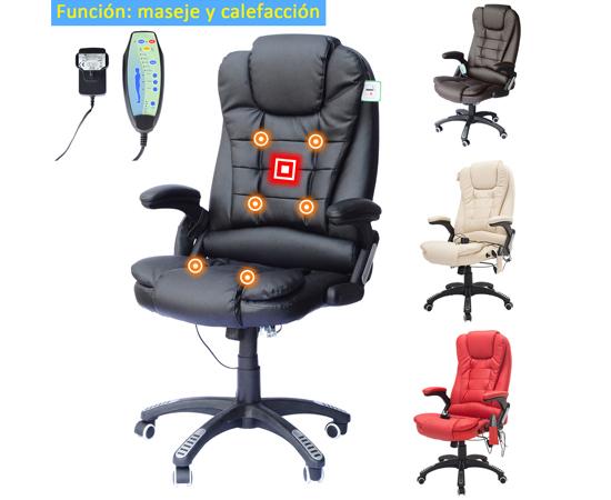 Silla de escritorio reclinable con funci n de masaje y for Sillas de escritorio ofertas