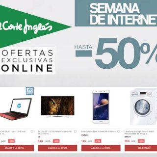 Semana de Internet en El Corte Inglés Descuentos de hasta el 50%, sólo online.