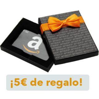 ¡Recibe 5 euros al comprar al recargar 80 euros en Amazon!