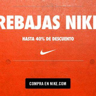 ¡Rebajas en Nike! 2,639 artículos con descuentos de hasta un 40%