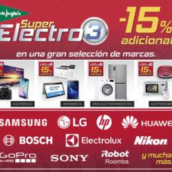 ¡Llega Super Electro 3! 15% De Descuento en informática, televisores, audio, fotografía, electrónica y electrodomésticos en El Corte Inglés.