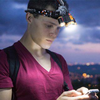 Linterna led frontal Tomshoo, 1600 lumens, 4 modos de iluminación por 8,99€ con código.