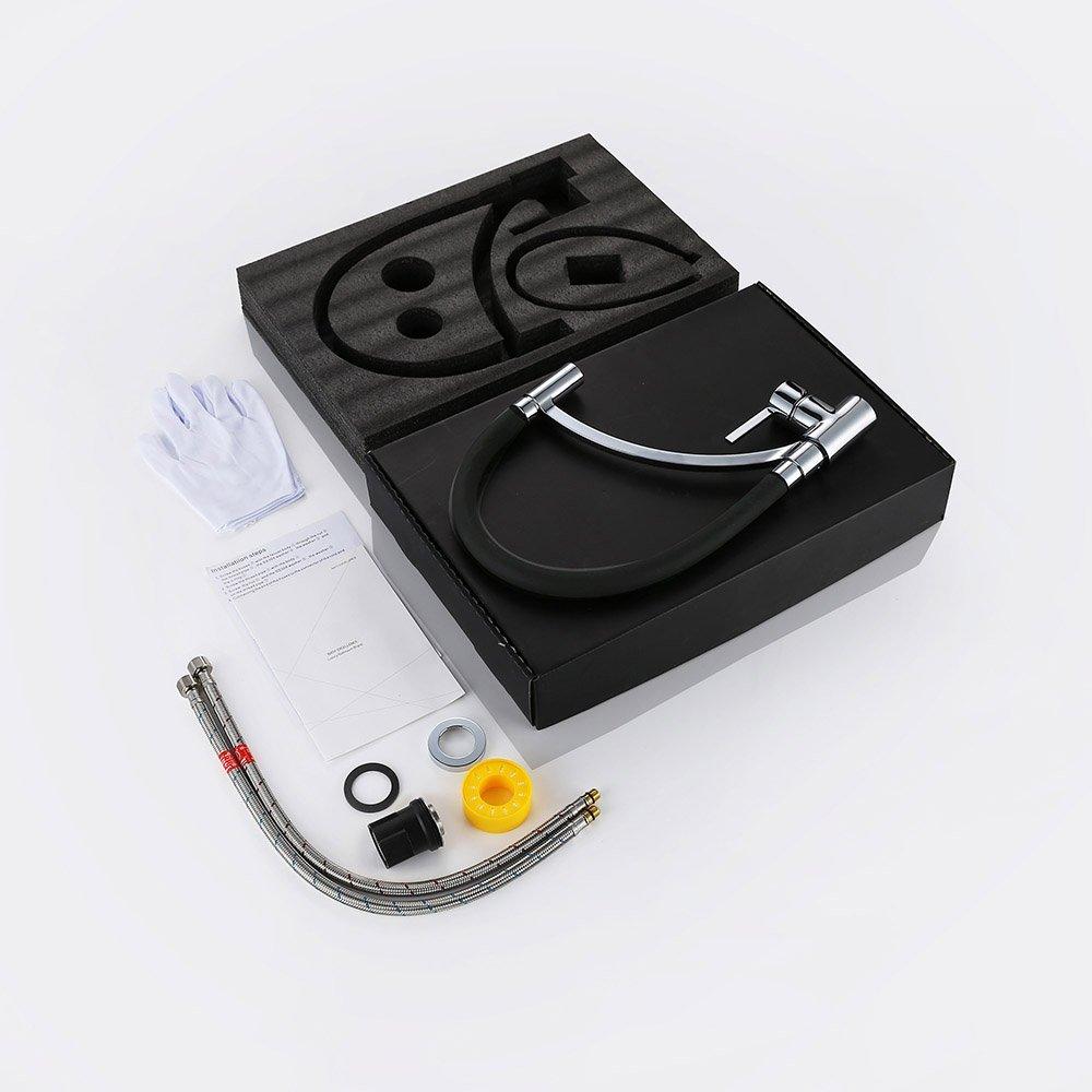 Grifo de cocina con goma extraible homelody por 48 25 con - Grifo cocina extensible ...