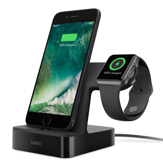base de carga para apple watch y iphone belkin powerhouse. Black Bedroom Furniture Sets. Home Design Ideas