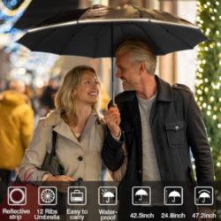 Paraguas automático con 10 varillas reforzadas de fibra de vidrio y resistente al viento por sólo 9,41€ antes 19,99€.