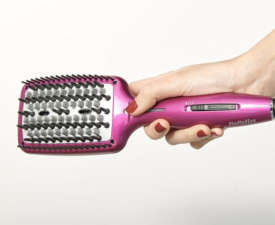 Cepillo alisador de cerámica Babyliss Liss Brush 3D HSB100E con 3 tipos de  púas 00901b879de7