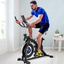 Bicileta de spinning Fafress con volante de inercia de 6Kg, pantalla LCD y monitorización de frecuencia cardíaca por 131,99€ antes 169,99€.