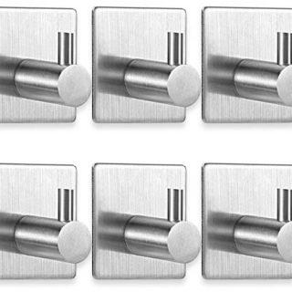 Pack de cinco ganchos adhesivos de acero inoxidable para cocina por 6,79 euros en oferta flash.