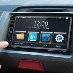 """Autoradio multimedia Excelvan 7021G, pantalla táctil 7"""", MP5, GPS, cámara trasera y control remoto por 61,99€ con código, antes 81,99€."""