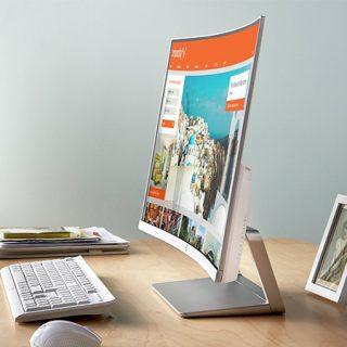 """Monitor curvo HP Z4N74AA, 27""""pulgadas, FullHD por 169,15€, antes 224,10€."""