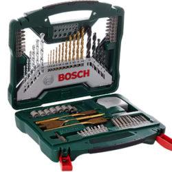 Maletín Bosch X-Line Titanio con 70 piezas para taladro y atornillado por 20,99€, antes 54,07€.