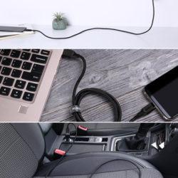 3 cables resistentes a la torsión Aukey de 1M, conexiones USB A-C por 5,99€ con código, antes 10,99€.