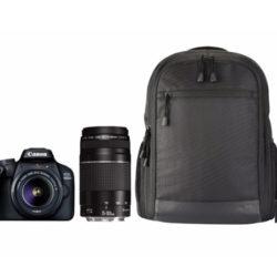 Cámara réflex Canon EOS 400D + Objetivos EF-S 18-55 y el 75-300 DC + Bolsa BP110 + Tarjeta 16GB por sólo 296,65€, antes 529,00€.