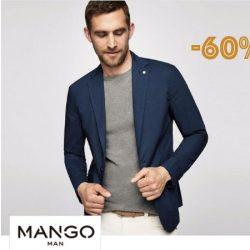 ¡Liquidación de ropa de hombre en Mango! Rebajas de un 60% en más de 1.200 artículos para hombre.