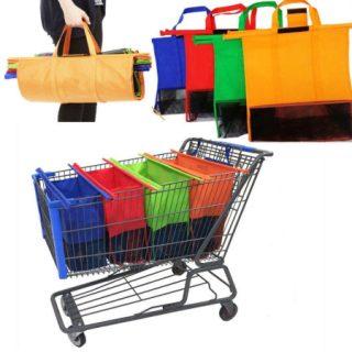 Bolsas organizadoras reutilizables para el carro de la compra  por sólo 8,85€ con cupón descuento!!