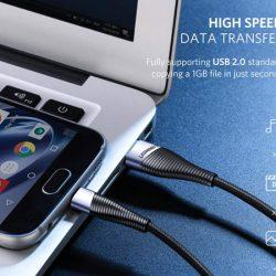 Cables para la carga rápida y protección contra sobrecargas de 0,5/1 y 2 metros con códigos.