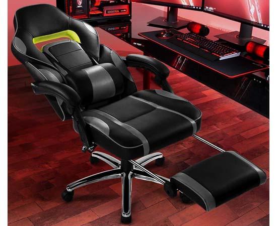 Silla de escritorio gaming acolchada langria por 110 49 con c digo chollos descuentos y - Ofertas sillas gaming ...