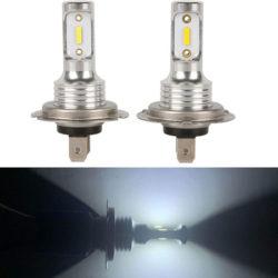 2 bombillas led de alta potencia H7 por 6,99€.