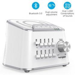 Máquina Homgeek de ruido blanco, bluetooth, salida USB para carga de dispositivos por 25,99€ con código, antes 33,98.