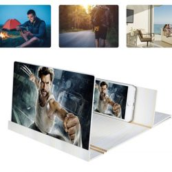 Ampliador de pantalla para smartphones de fibra de madera plegable por 8,24€ con código.