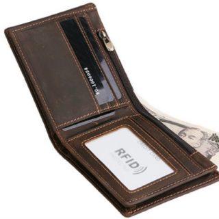Oferta Flash!! Billetera con diseño Vintage de cuero y protección RFID por sólo 9,98€!!
