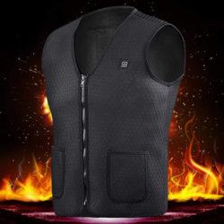 Chaleco térmico, 3 niveles de calor ajustables, tallas L, XL, 2XL y 3XL por 18,99€ con código, antes 30,99€.
