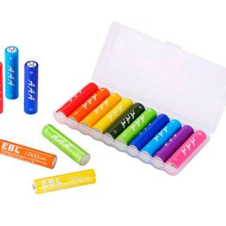 Pack de 10 baterías EBL recargables AA por sólo 7,79€