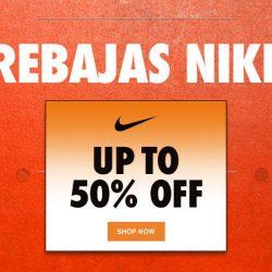 ¡Rebajas en Nike! 2,600 artículos con descuentos de hasta un 50% y además cupón de un 15% extra.