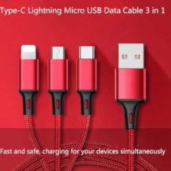 Cable 3 en 1 para dispositivos Android, IOS y USB desde sólo 3,99€.