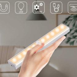 Luz de pared con detector de movimiento y batería recargable, IP20 por sólo 6,59€.