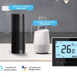 Termostato inteligente wifi compatible con Amazon Echo, Google Home, Tmall Genie e IFTTT por 25,99€ con código, antes 43,99€.