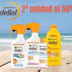 Segunda unidad al 50% en cremas solares Delial.