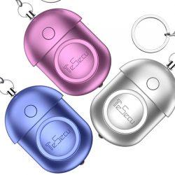 3 llaveros con alarma personal por 9,79€ con código.