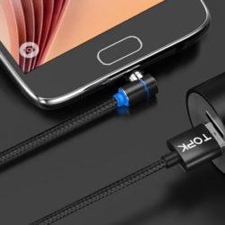 Cable de carga magnético Topk-L Lightning, tipoC o microUSB desde sólo 3,16€ conectores por  1,18€!!