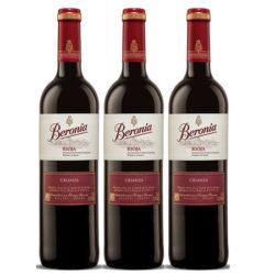 Tres botellas de vino Tinto Beronia Crianza por 7,56€!!