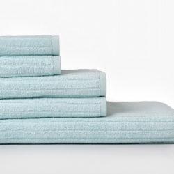 Juego de 5 toallas de algodón con acabado en rizo por 16€ en El Corte Inglés. Antes 40 euros. Varios colores disponibles