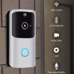 Timbre WiFi Kloius, 1280x720P HD, visión nocturna, detección de movimientos, audio bidireccional por 39,99€ con código, antes 199€.