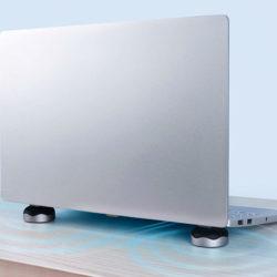 Almohadilla de refrigeración y soporte para portátiles Xiaomi Hagibis con base antideslizante por sólo 8,57€.