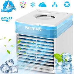 Mini enfriador de aire, humificador, purificador de aire, 500ml por 19,99€ antes 39,99€.
