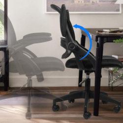 Silla de oficina ergonómica, transpirable, resplado reclinable con apoyo lumbar y reposabrazos plegable por 54,99€ antes 109,99€.