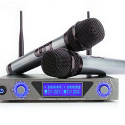 Sistema de karaoke con 2 micros inalámbricos UHF Archeer por 36€ con código, antes 72€.