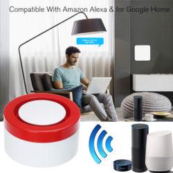 Sistema de alarma inteligente wifi con sensor de movimientos, ventanas, control remoto, app compatible con cámaras de vigilancia y los asisitentes Alexa y Google por 27,99€ con código.