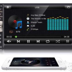 Autoradio bluetooth MP5, función manos libres, USB, tarjetas SD y entrada auxiliar por 29,99€ con código, antes 46,99€.
