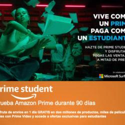 Ahora si eres estudiante puedes probar Amazon Prime durante tres meses gratis y luego te saldrá por 18 euros al año.