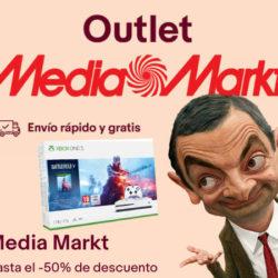 Hasta un 50% de descuento en el Outlet de Mediamarkt y además cupón del 5%.