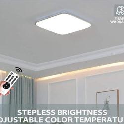 Plafón LED 60W equivalente a 360W, 4800 lúmenes, IP20 con mando por 36€ con código, antes 86,99€.